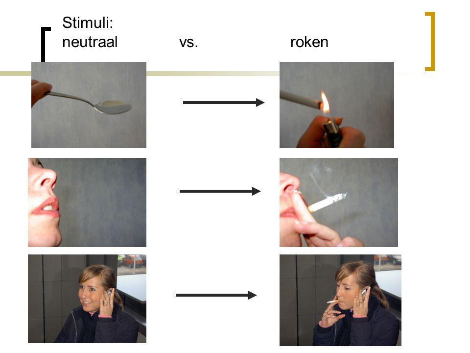 Stimuli: neutraal vs. roken