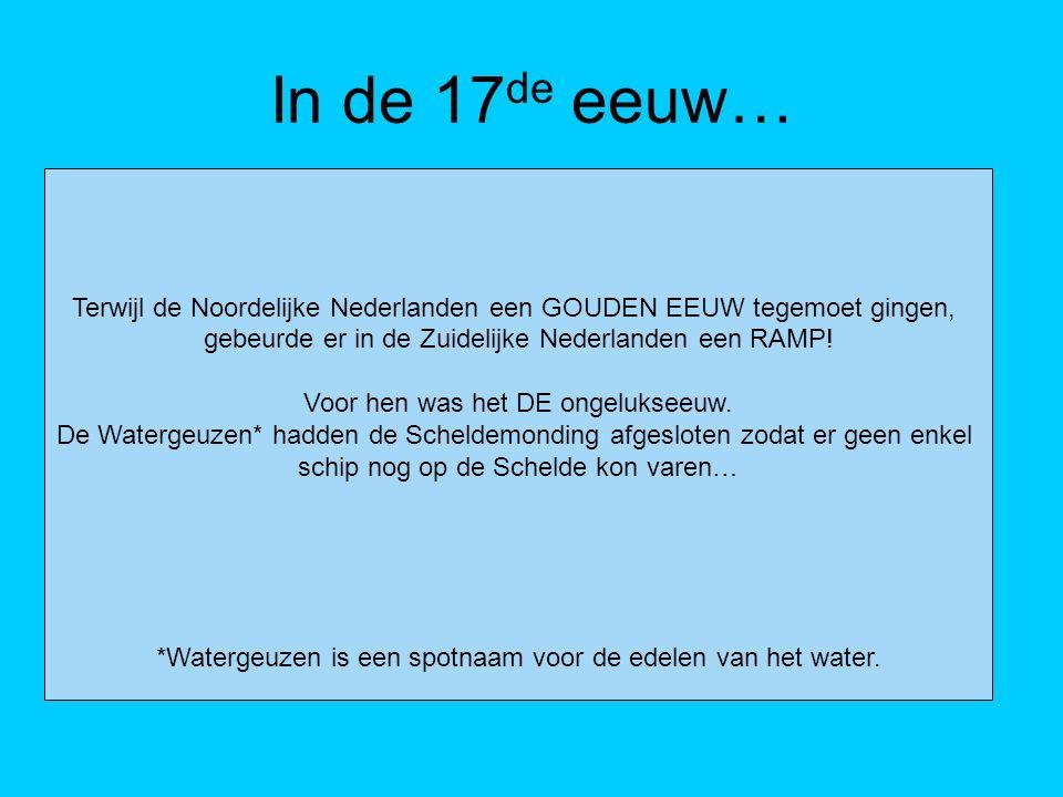 Einde van haven Antwerpen De handel ging naar beneden.