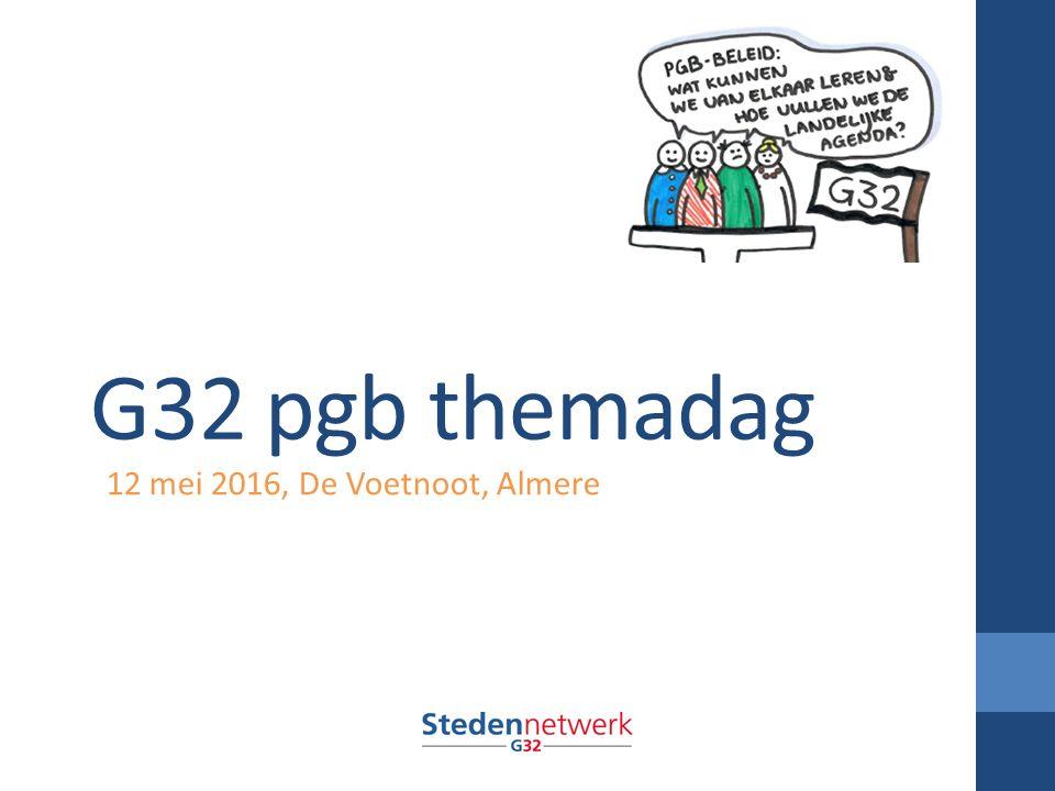 G32 pgb themadag 12 mei 2016, De Voetnoot, Almere