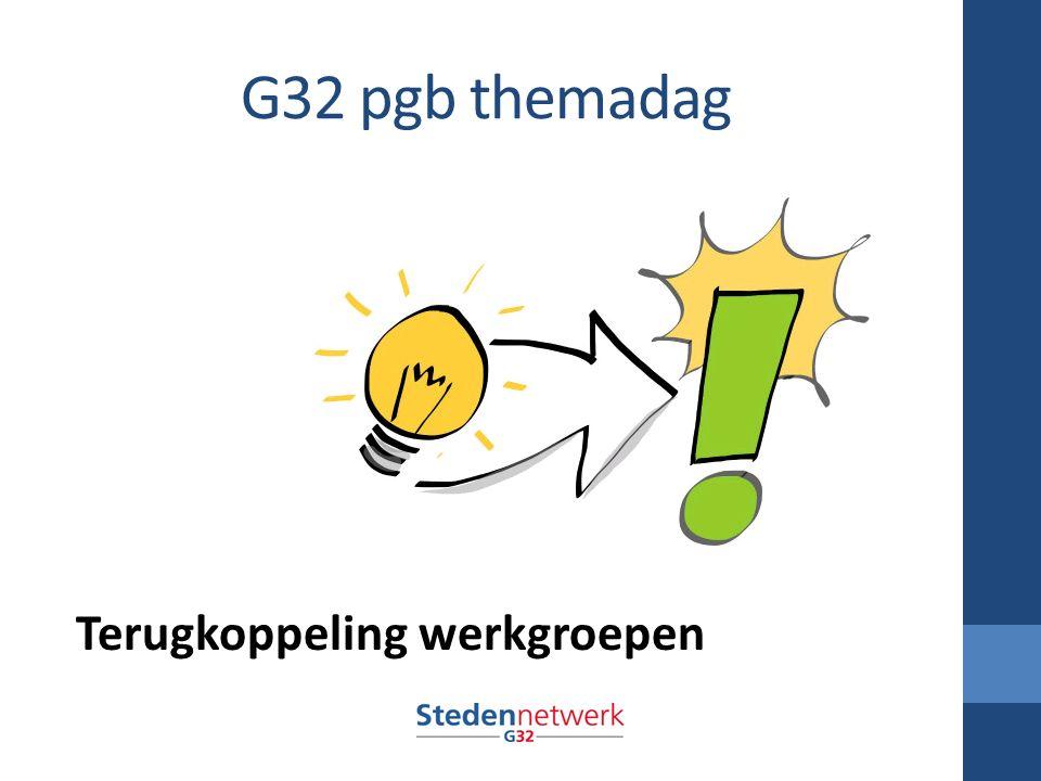 G32 pgb themadag Terugkoppeling werkgroepen