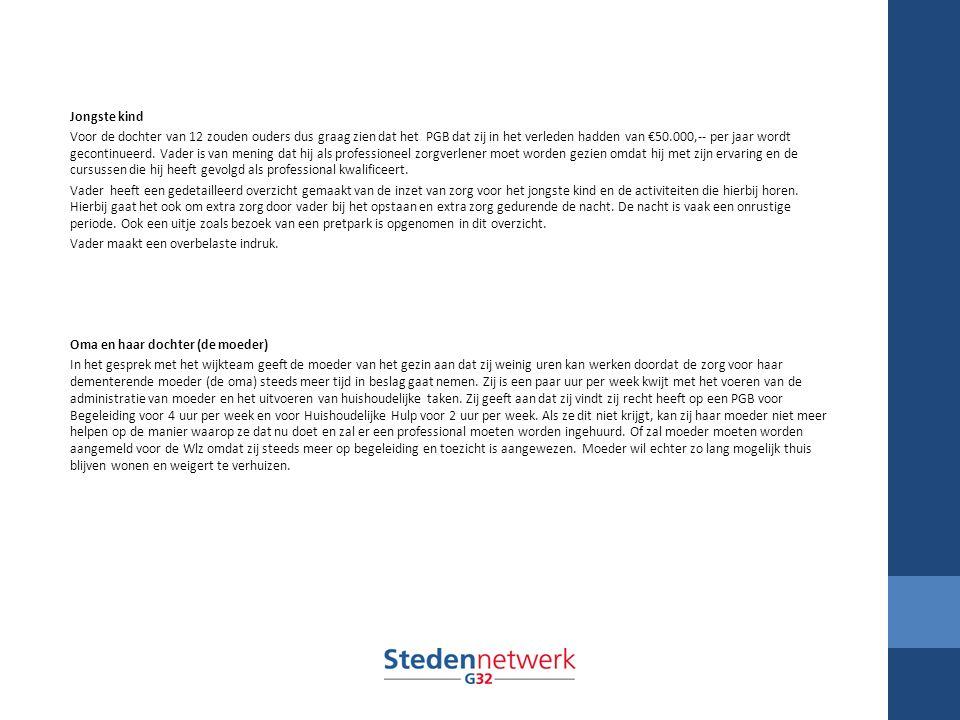 Werkgroep fraude/handhaving Naleving wet- en regelgeving begint aan de voorkant: Goede dienstverlening gemeenten en wijkteams Heldere communicatie met burger over rechten en plichten en wederzijdse verwachtingen VNG heeft kenniscentrum handhaving en naleving: www.vng.nl/fraudepreventie www.vng.nl/fraudepreventie Goede voorbeelden: Den Haag, Woerden, Doesburg en Almere Toezicht kan lokaal of regionaal georganiseerd worden Er is een verschil tussen toezicht op kwaliteit en toezicht op naleving