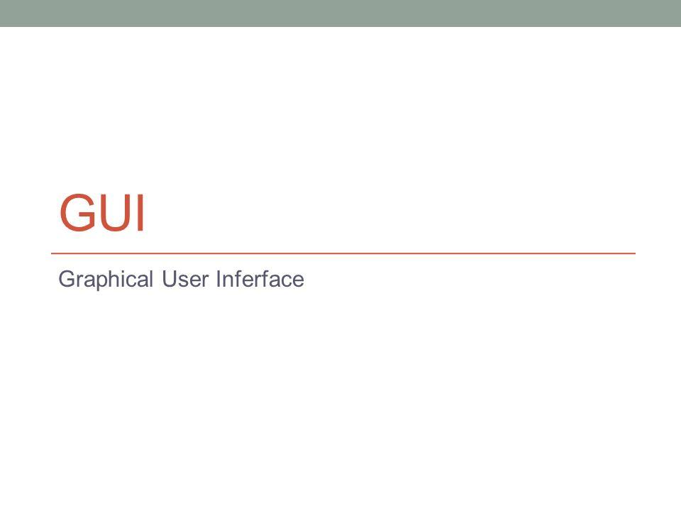 Window Definieer object(en) create voeg toe aan Gui update Gui draw Gui