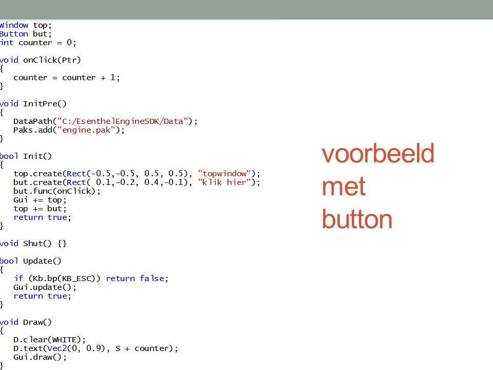 voorbeeld met button