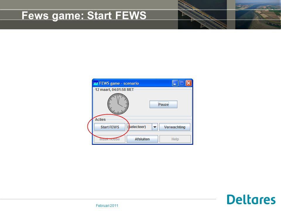 Februari 2011 Fews game: Start FEWS