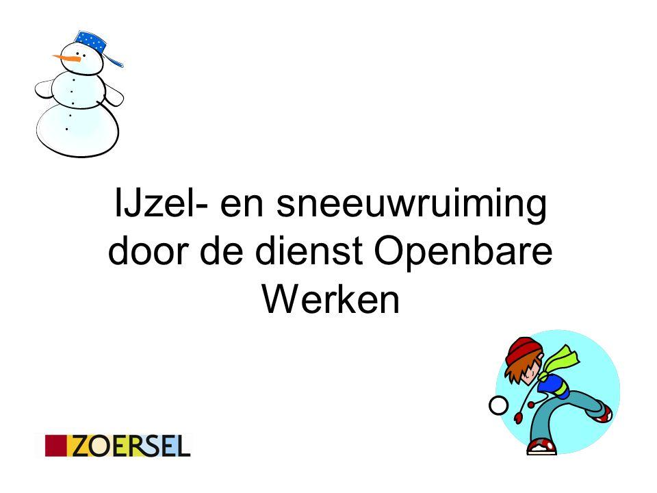 IJzel- en sneeuwruiming door de dienst Openbare Werken