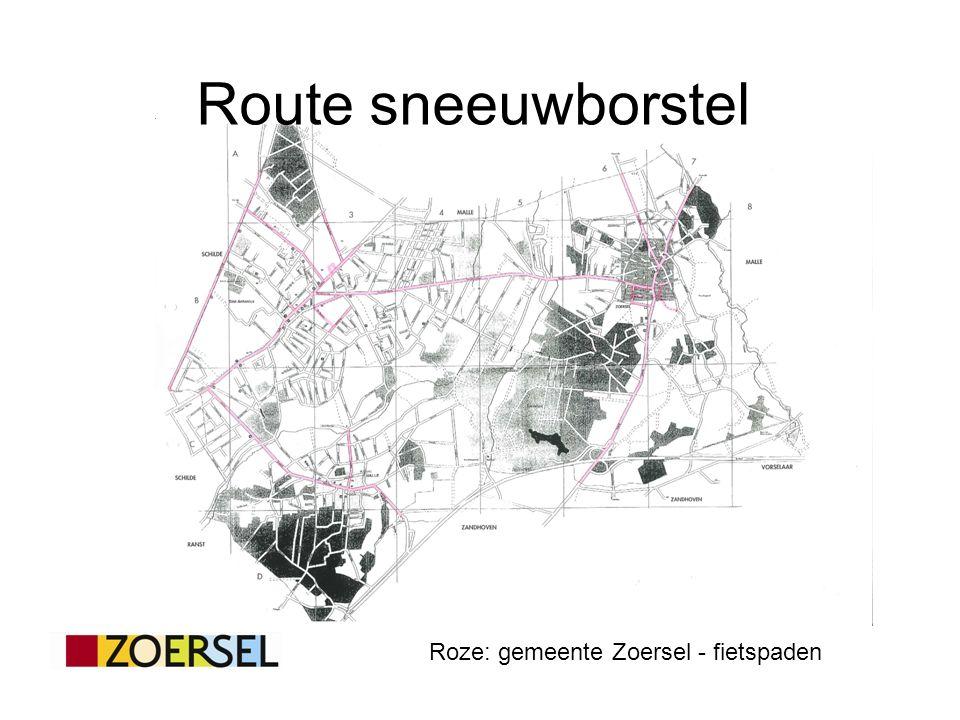 Route sneeuwborstel Roze: gemeente Zoersel - fietspaden