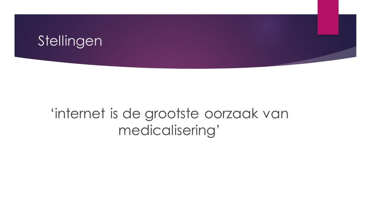Stellingen 'internet is de grootste oorzaak van medicalisering'