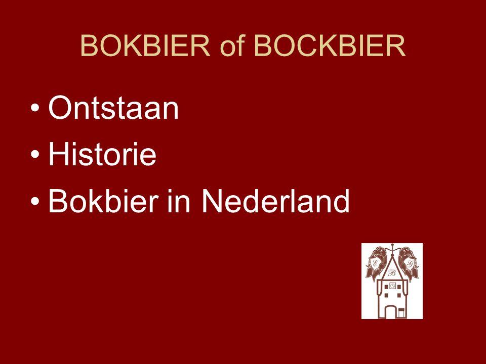 Ontstaan Bokbier