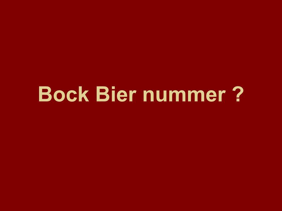 Bock Bier nummer ?
