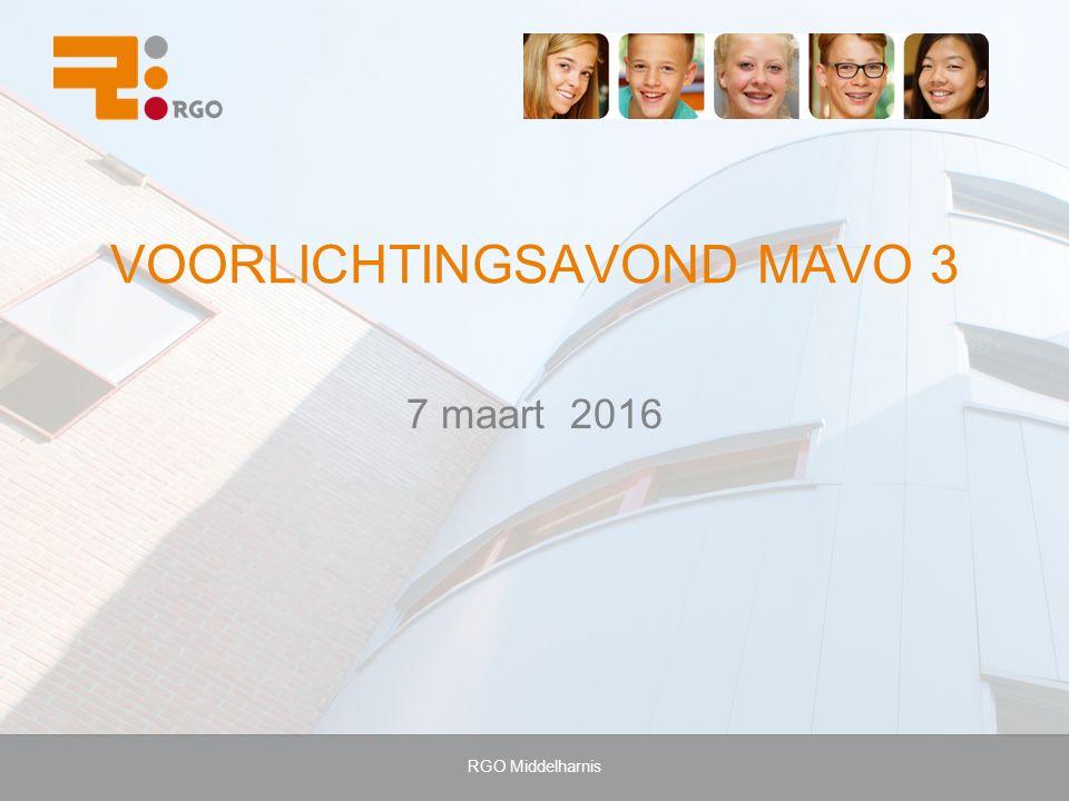 VOORLICHTINGSAVOND MAVO 3 7 maart 2016 RGO Middelharnis