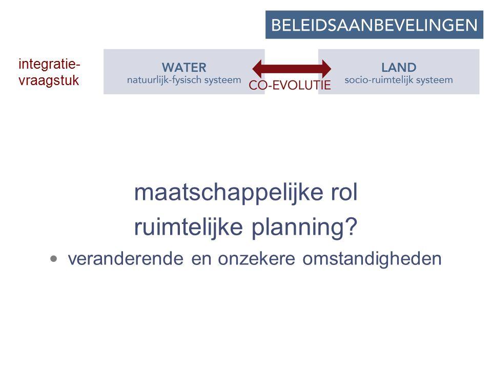 maatschappelijke rol ruimtelijke planning.