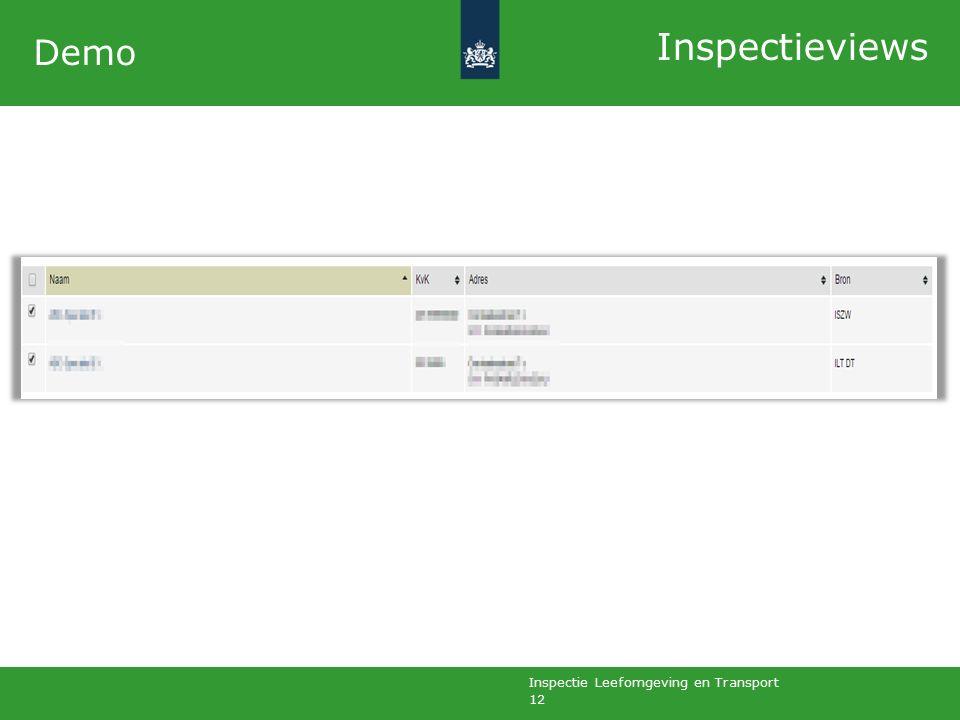 Inspectie Leefomgeving en Transport 12 Demo Inspectieviews