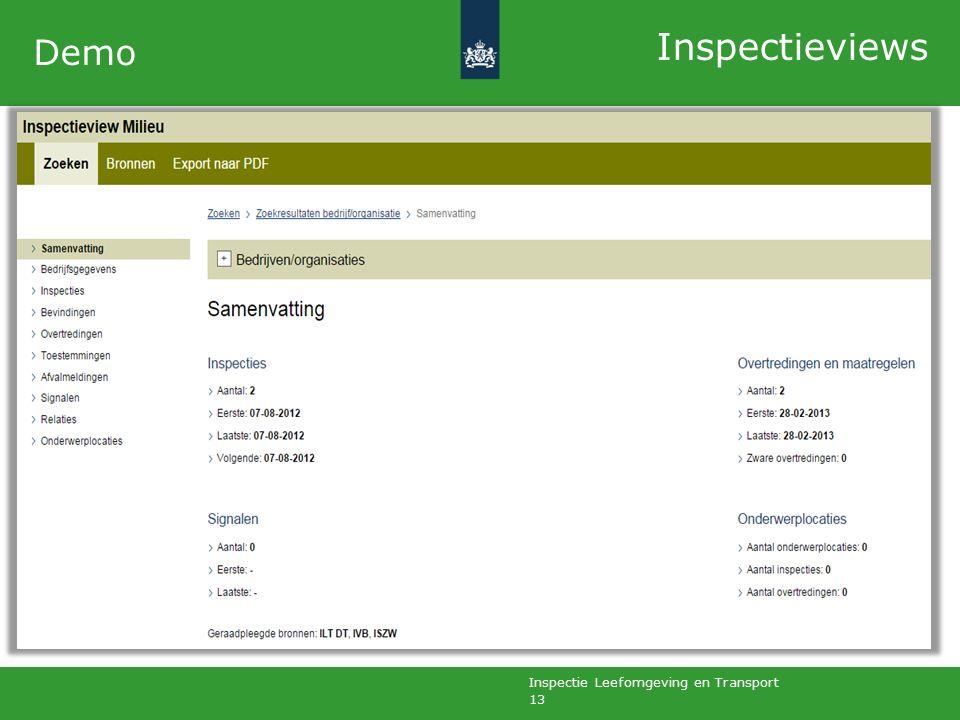 Inspectie Leefomgeving en Transport 13 Demo Inspectieviews