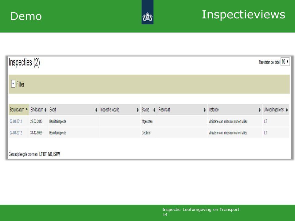 Inspectie Leefomgeving en Transport 14 Demo Inspectieviews