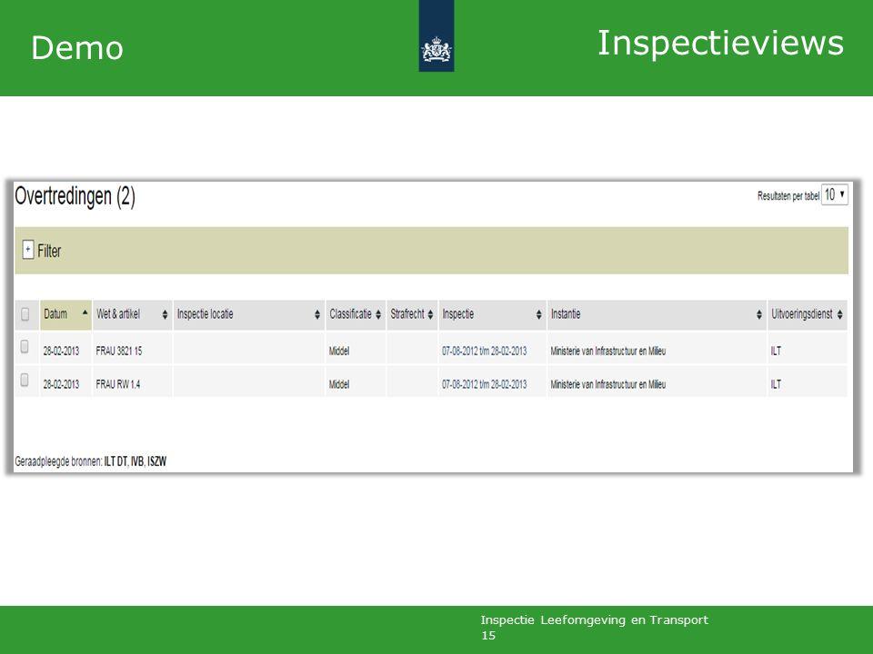 Inspectie Leefomgeving en Transport 15 Demo Inspectieviews