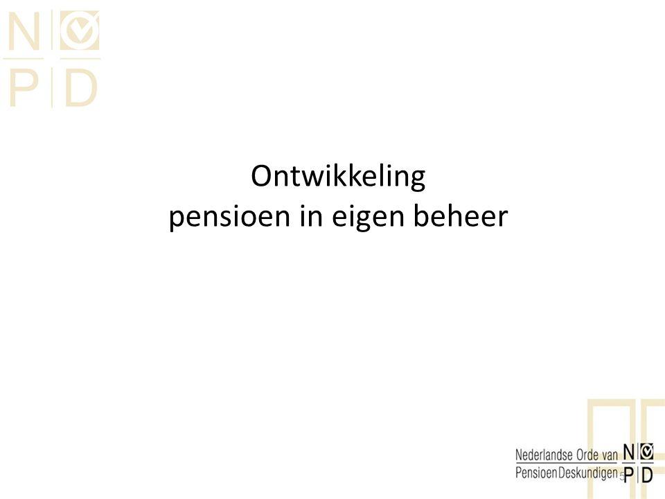 Ontwikkeling pensioen in eigen beheer 5