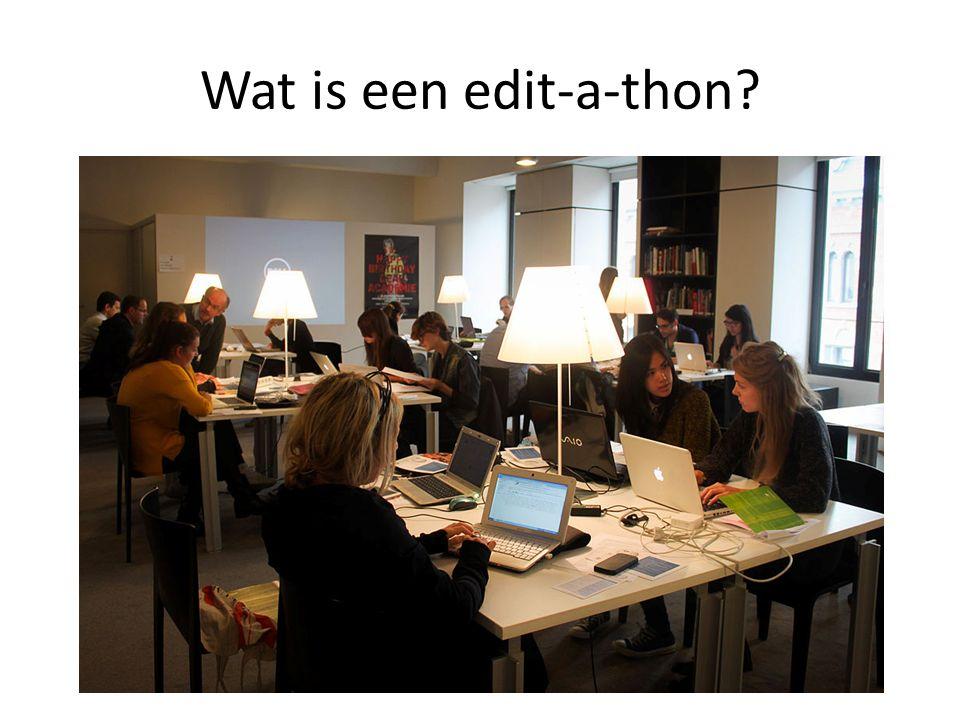Wat is een edit-a-thon