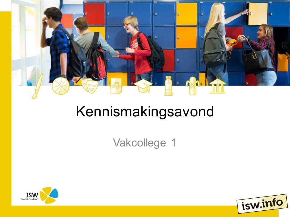 Kennismakingsavond Vakcollege 1