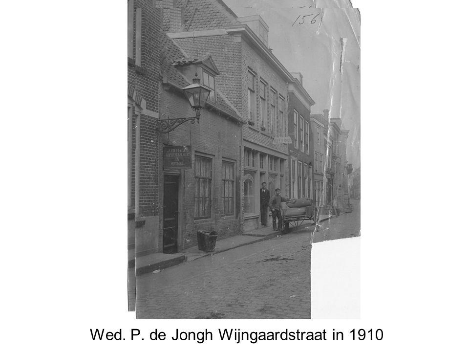 Wed. P. de Jongh Wijngaardstraat in 1910