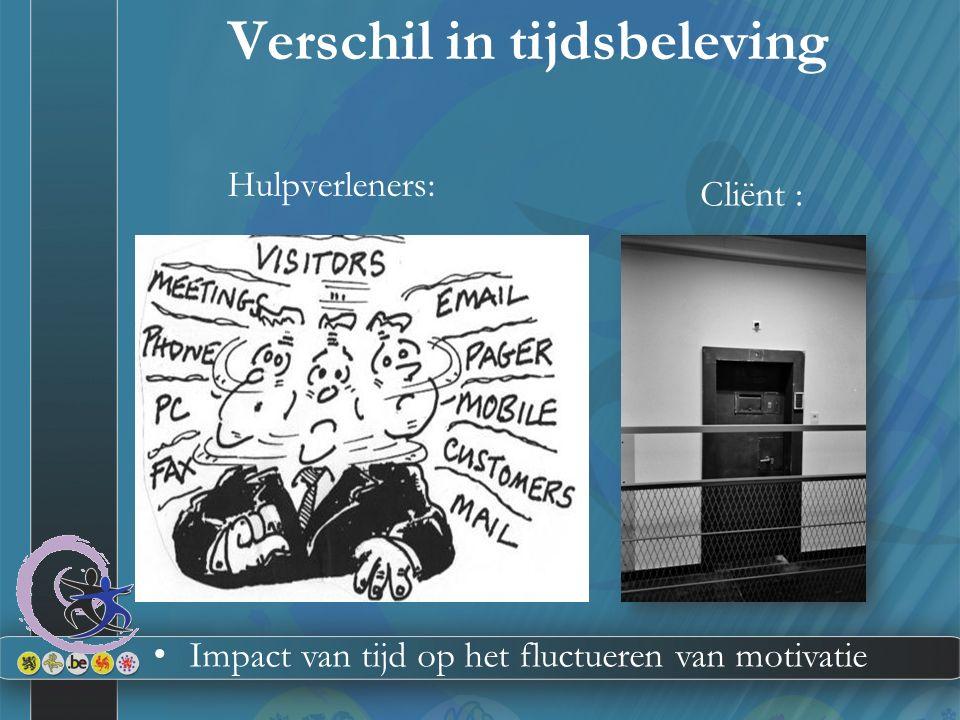 Verschil in tijdsbeleving Hulpverleners: Cliënt : Impact van tijd op het fluctueren van motivatie