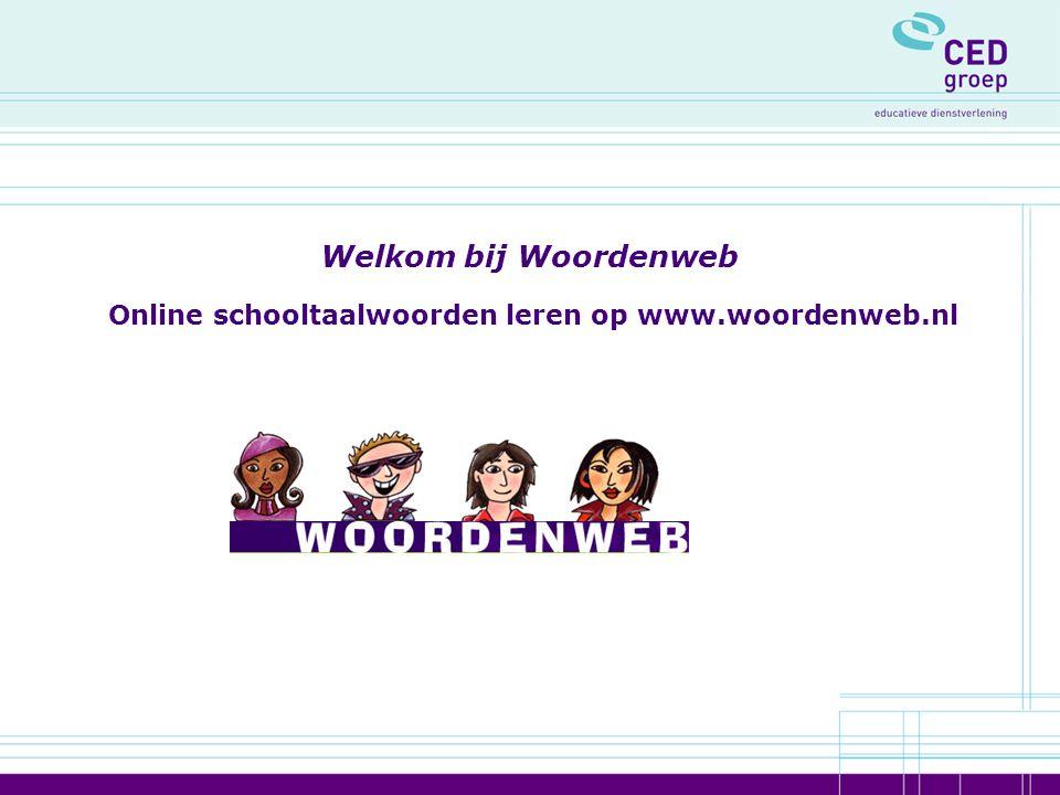 Welkom bij Woordenweb Online schooltaalwoorden leren op www.woordenweb.nl