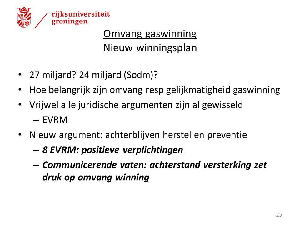 Omvang gaswinning Nieuw winningsplan 27 miljard.24 miljard (Sodm).