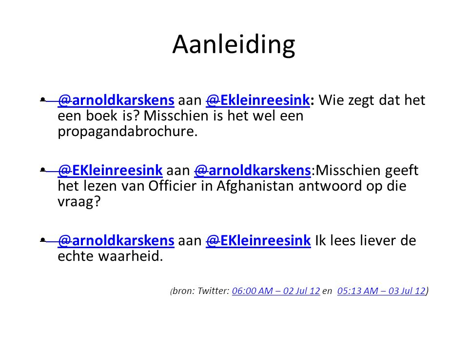 Aanleiding @arnoldkarskens aan @Ekleinreesink: Wie zegt dat het een boek is.