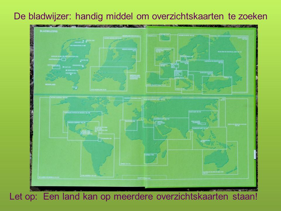 In de Bosatlas staan verschillende soorten kaarten: Overzichtskaarten 1.
