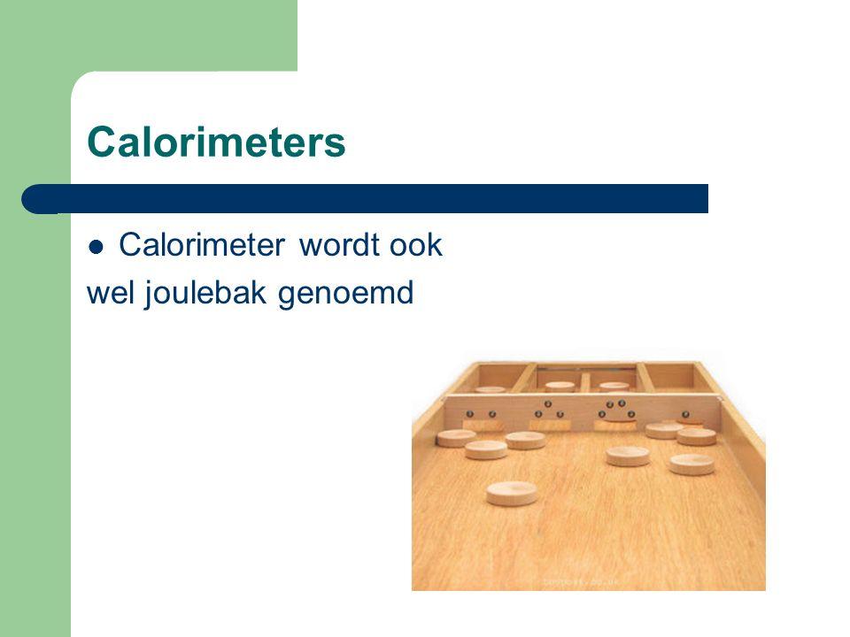 Calorimeter wordt ook wel joulebak genoemd