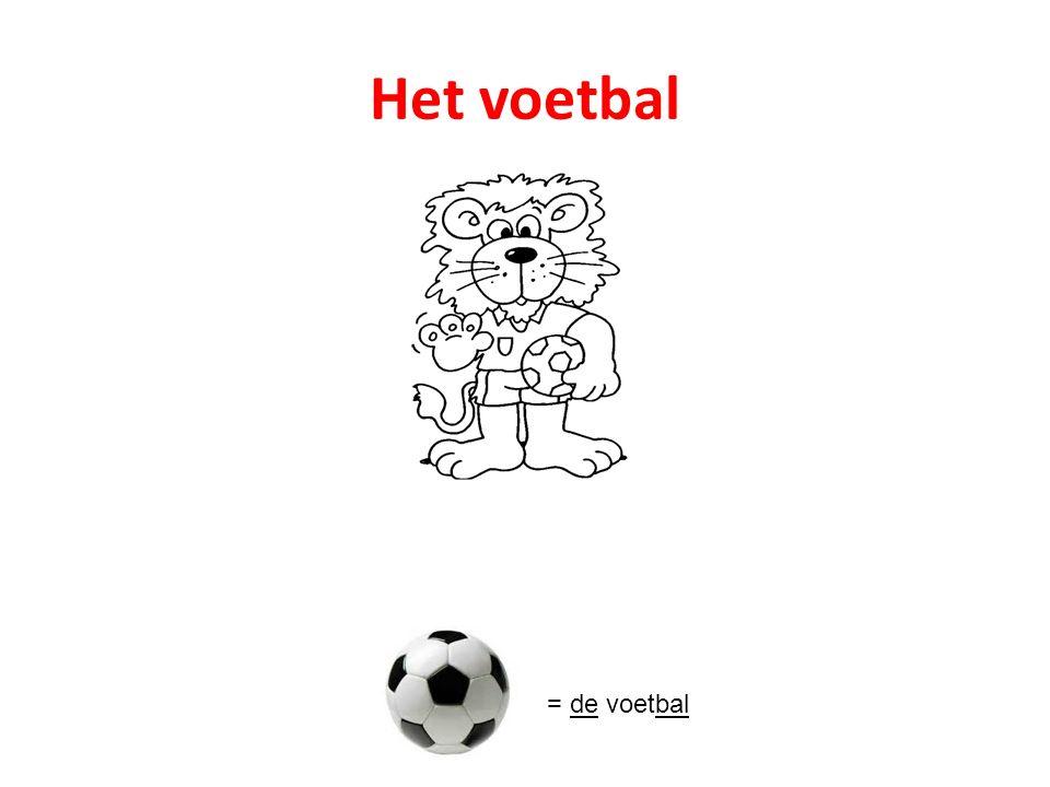 Het voetbal = de voetbal