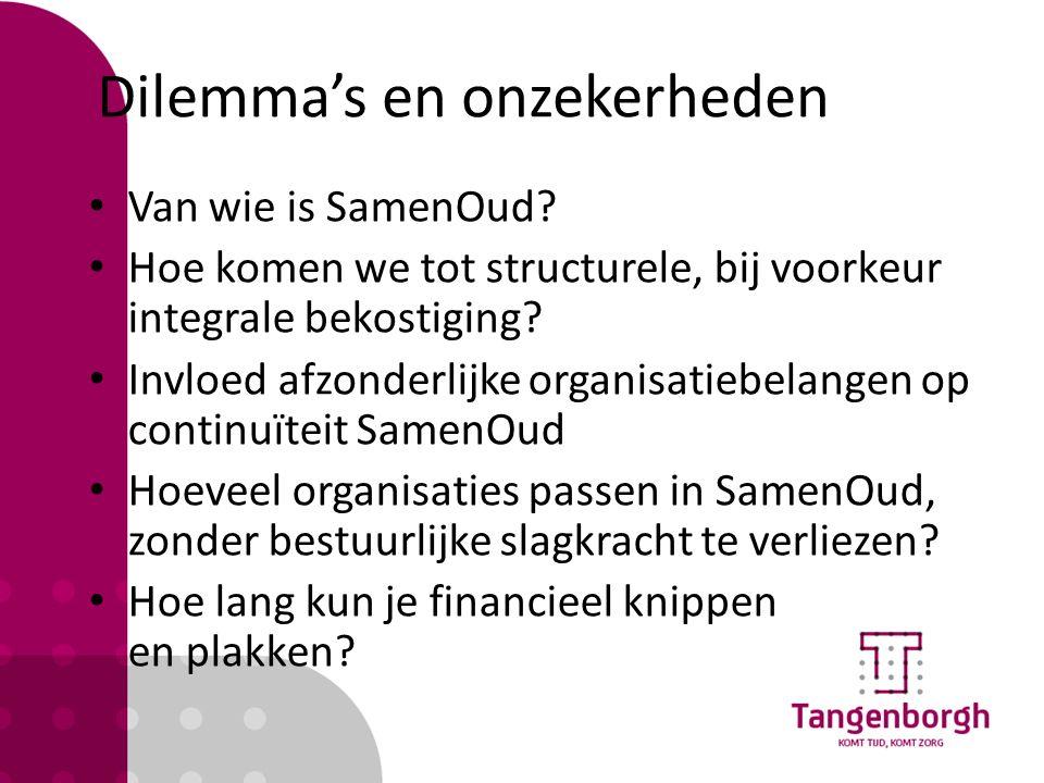 Samenwerking RvT Tangenborgh Bij start: - Presentatie UMCG - In lijn met strategie - Bekostiging in de vorm van subsidie - Geen bestuurlijk, juridische consequenties Bij doorstart: - Informeren over voortgang - Reguliere verantwoording en dialoog
