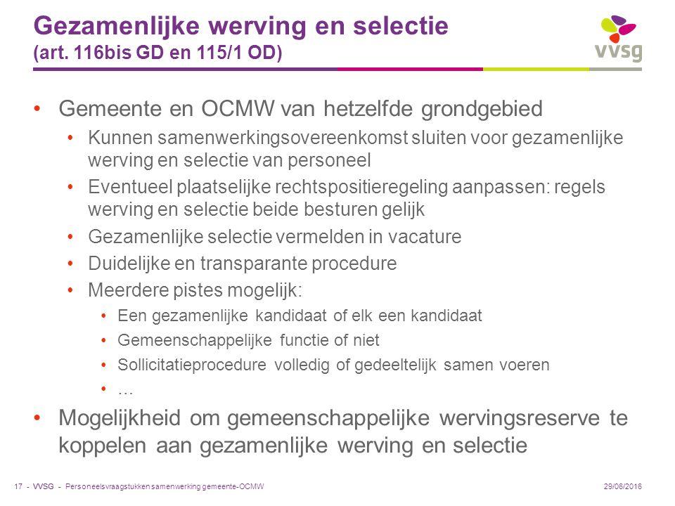 VVSG - Gezamenlijke werving en selectie (art.