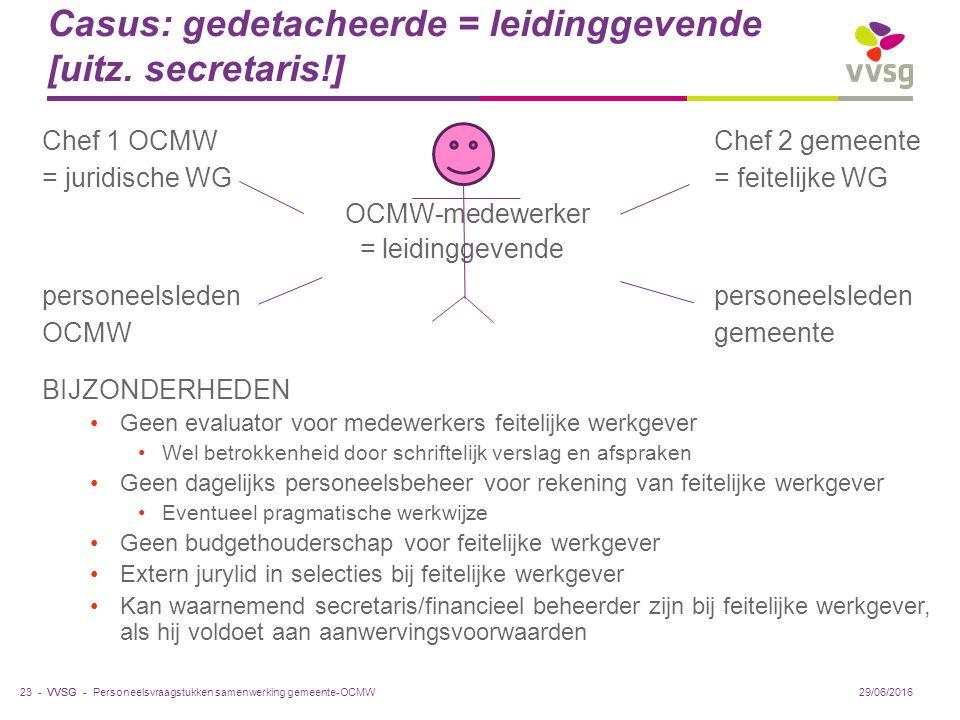 VVSG - Casus: gedetacheerde = leidinggevende [uitz.