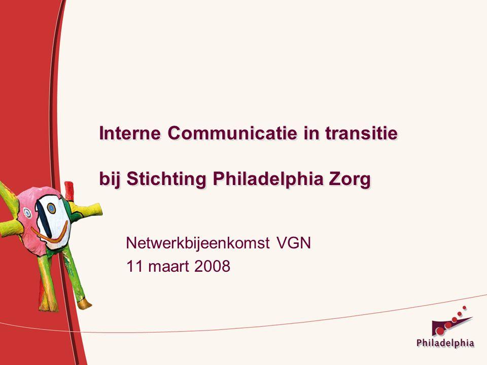Interne Communicatie in transitie bij Stichting Philadelphia Zorg Netwerkbijeenkomst VGN 11 maart 2008