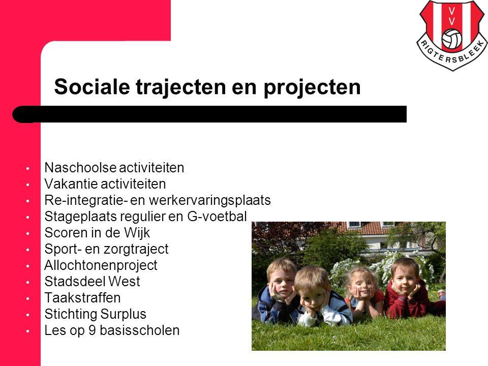 Naschoolse activiteiten Vakantie activiteiten Re-integratie- en werkervaringsplaats Stageplaats regulier en G-voetbal Scoren in de Wijk Sport- en zorg
