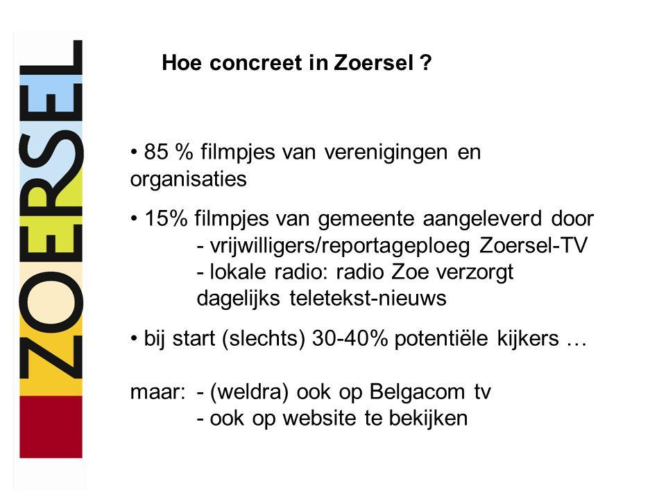 Hoe concreet in Zoersel .
