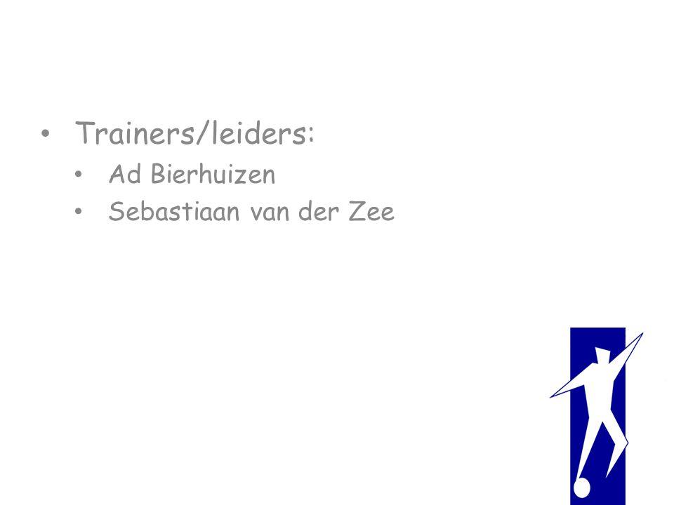 Trainers/leiders: Ad Bierhuizen Sebastiaan van der Zee