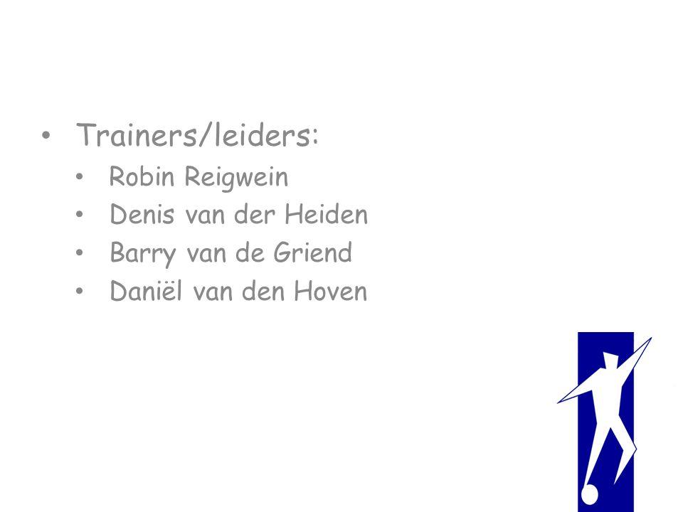 Trainers/leiders: Robin Reigwein Denis van der Heiden Barry van de Griend Daniël van den Hoven