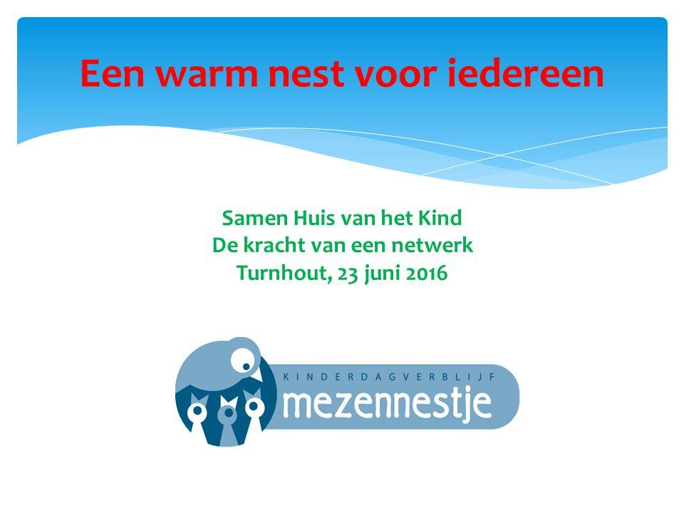 Een warm nest voor iedereen Samen Huis van het Kind De kracht van een netwerk Turnhout, 23 juni 2016