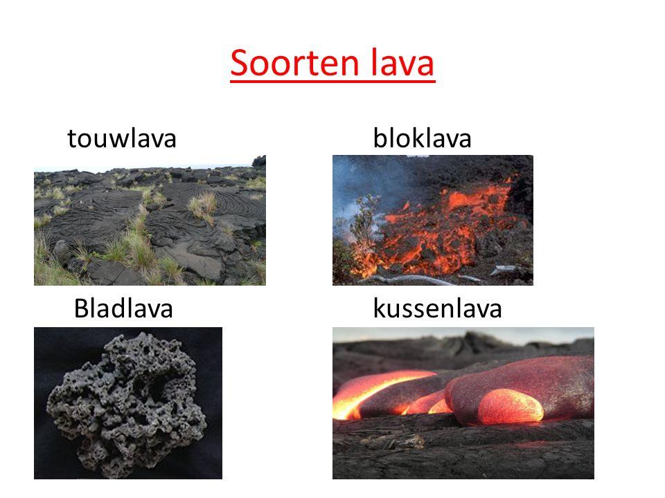 Soorten lava touwlava bloklava Bladlavakussenlava