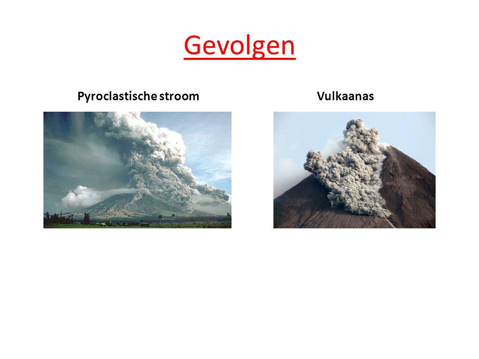 Gevolgen Pyroclastische stroomVulkaanas