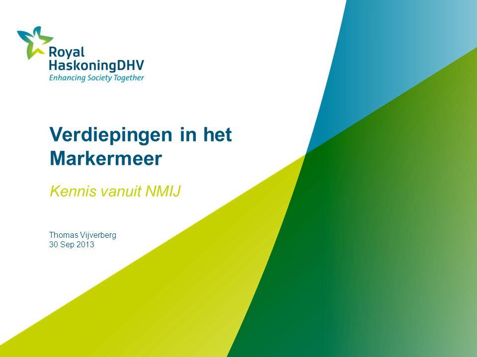 Verdiepingen in het Markermeer Kennis vanuit NMIJ Thomas Vijverberg 30 Sep 2013
