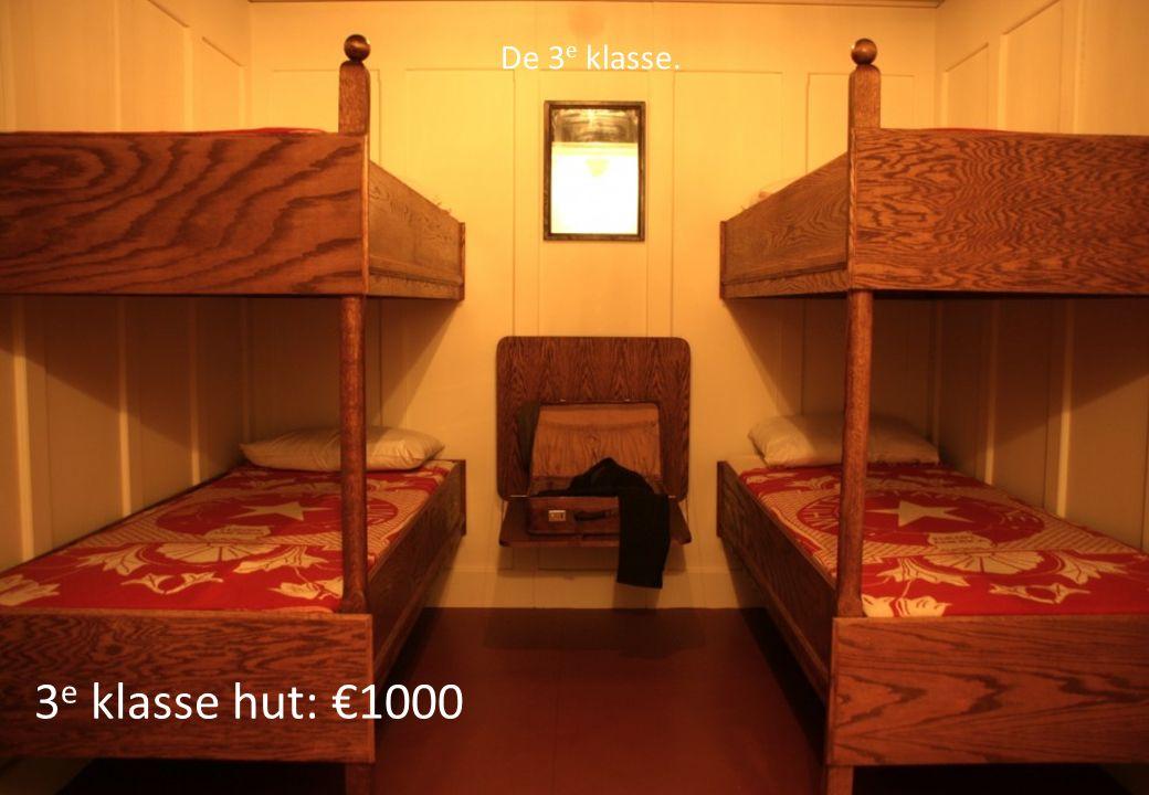 3 e klasse hut: €1000 De 3 e klasse.