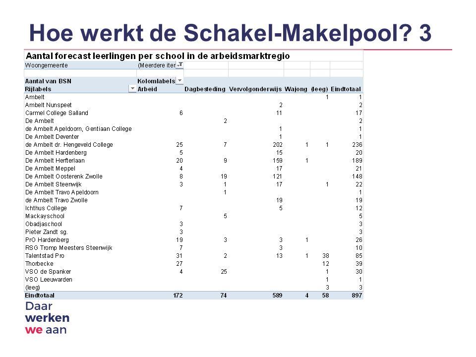 Hoe werkt de Schakel-Makelpool 3
