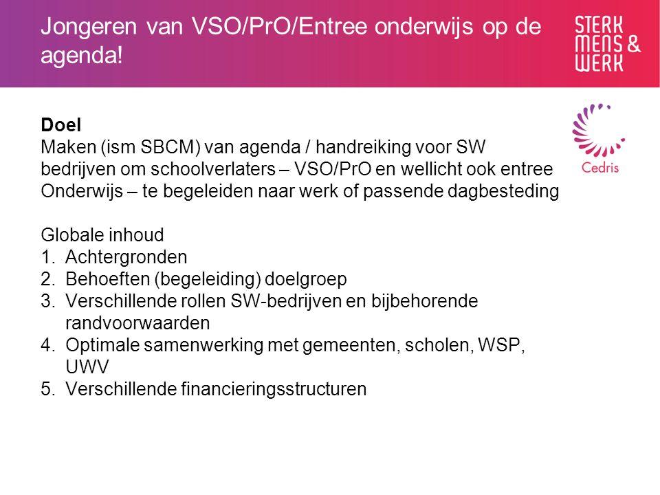 Jongeren van VSO/PrO/Entree onderwijs op de agenda.