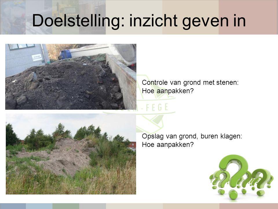 Controle van grond met stenen: Hoe aanpakken Opslag van grond, buren klagen: Hoe aanpakken