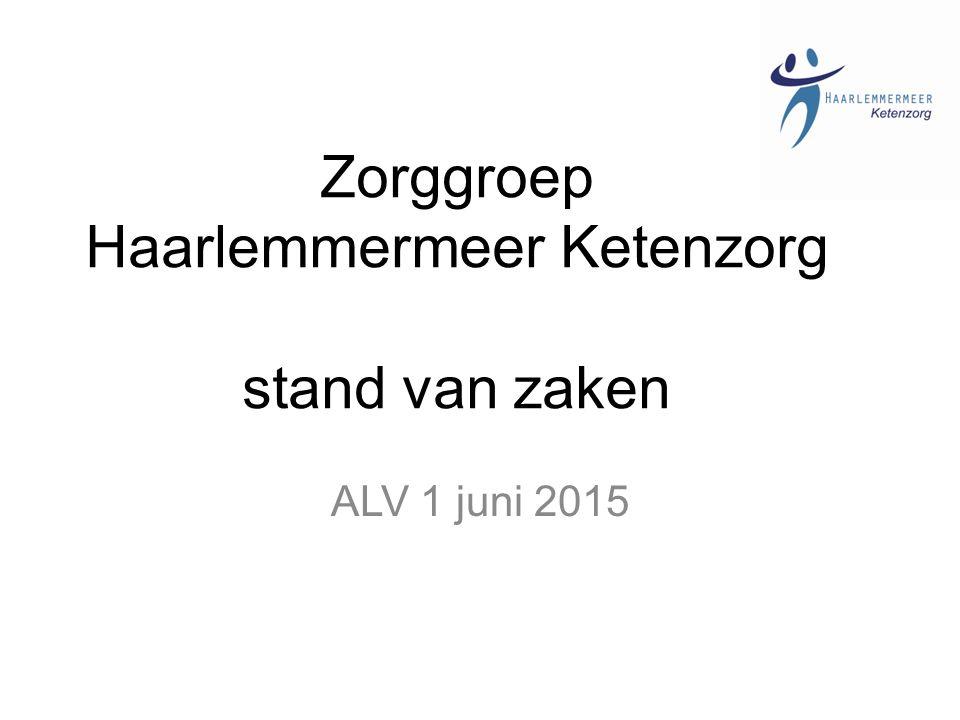Zorggroep Haarlemmermeer Ketenzorg stand van zaken ALV 1 juni 2015
