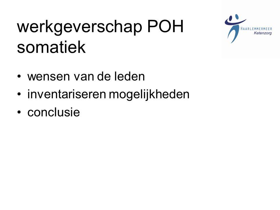 werkgeverschap POH somatiek wensen van de leden inventariseren mogelijkheden conclusie