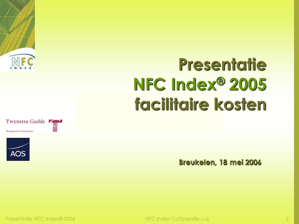 Presentatie NFC Index® 20062NFC Index Coöperatie u.a Presentatie NFC Index ® 2005 facilitaire kosten Breukelen, 18 mei 2006