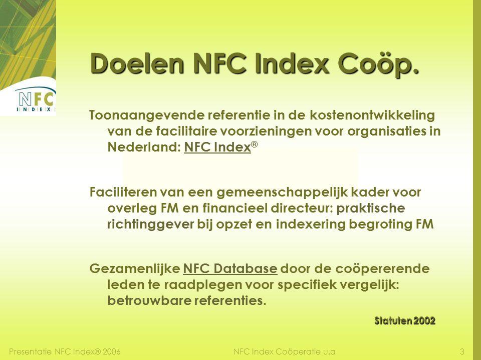 Presentatie NFC Index® 20063NFC Index Coöperatie u.a Doelen NFC Index Coöp.